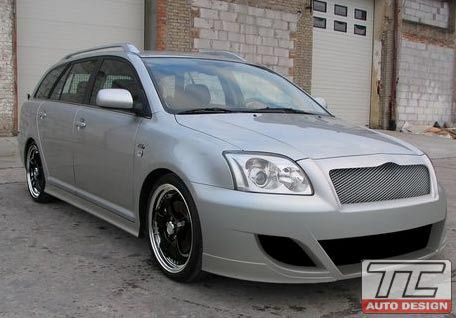 toyota avensis 2003 toyota avensis t25 przedni zderzak front bumper toav031 tuning. Black Bedroom Furniture Sets. Home Design Ideas